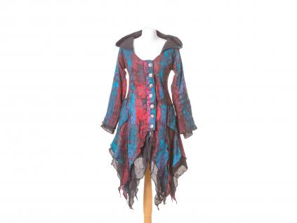 kabátek Wicca, modro-červený kabátek