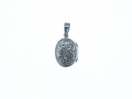 Stříbrný přívěšek Medailon otevírací oválek