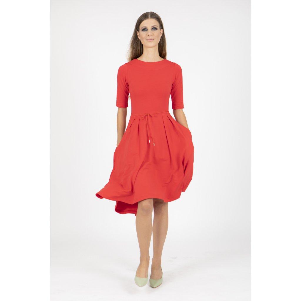 Šaty Miestni Červené Klasik