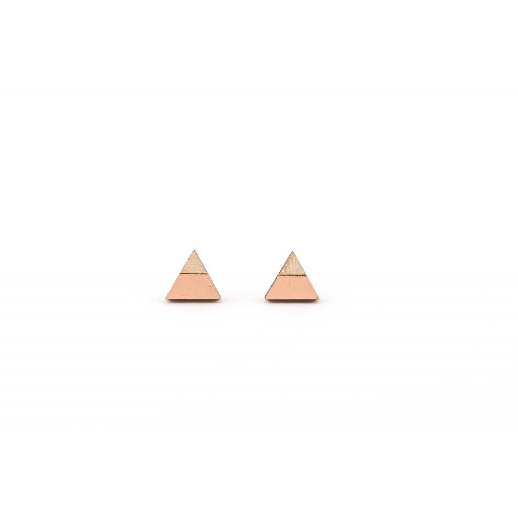 Náušnice Alizi Design Peach trojúhelník
