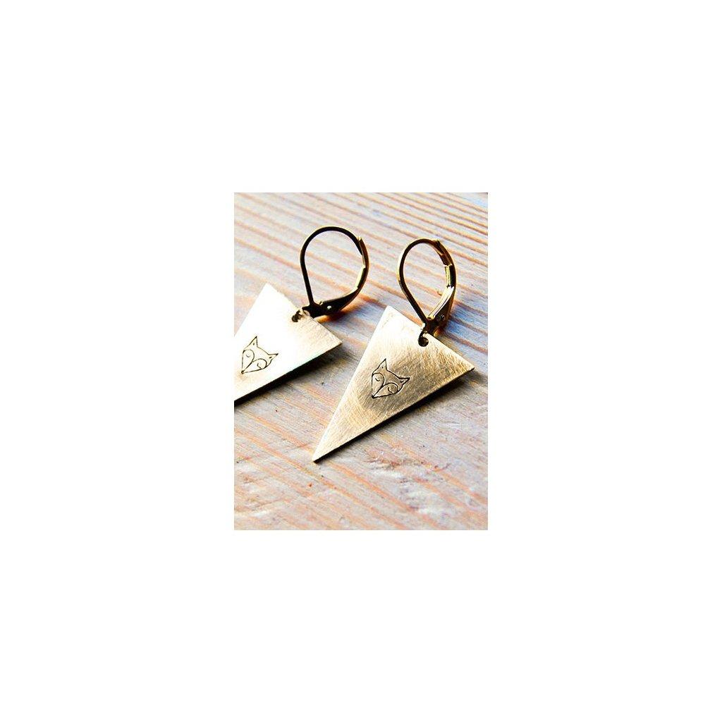 triangle fox earrings