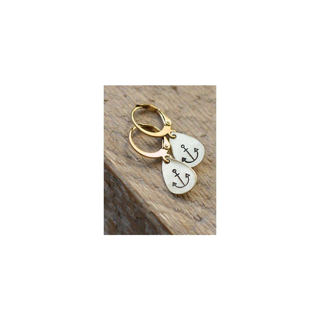teardrop anchor earrings