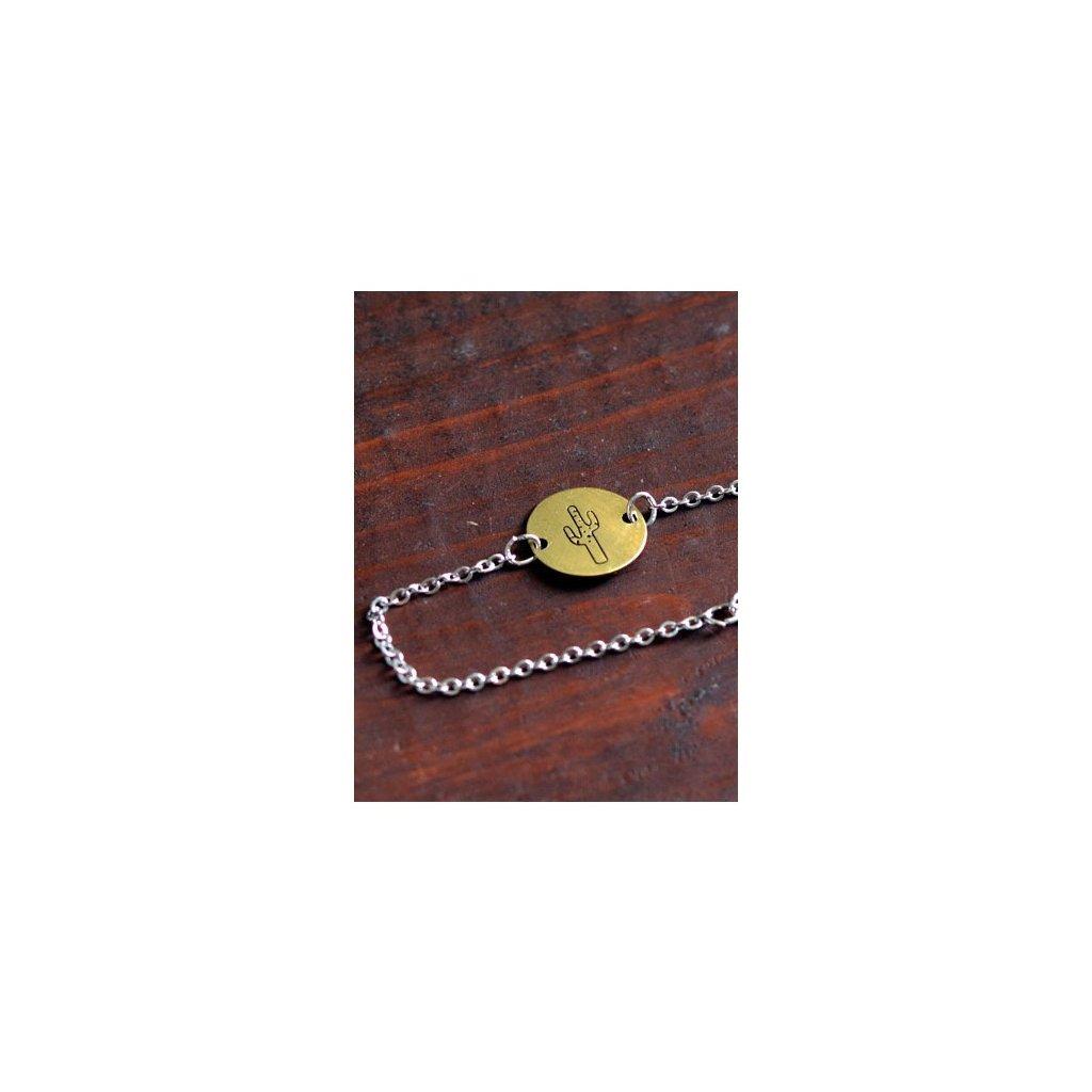 cactus chain bracelet
