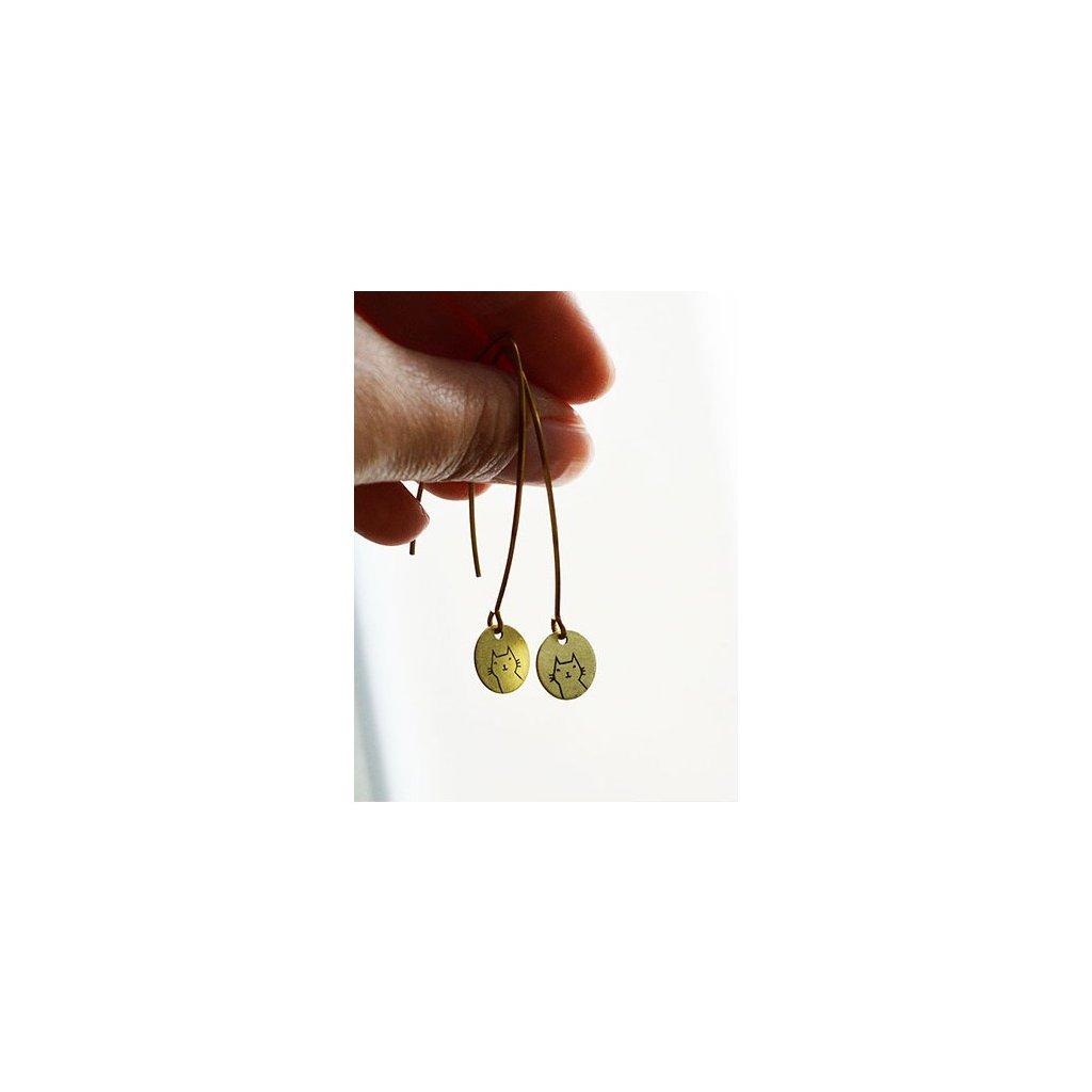 long cat earrings
