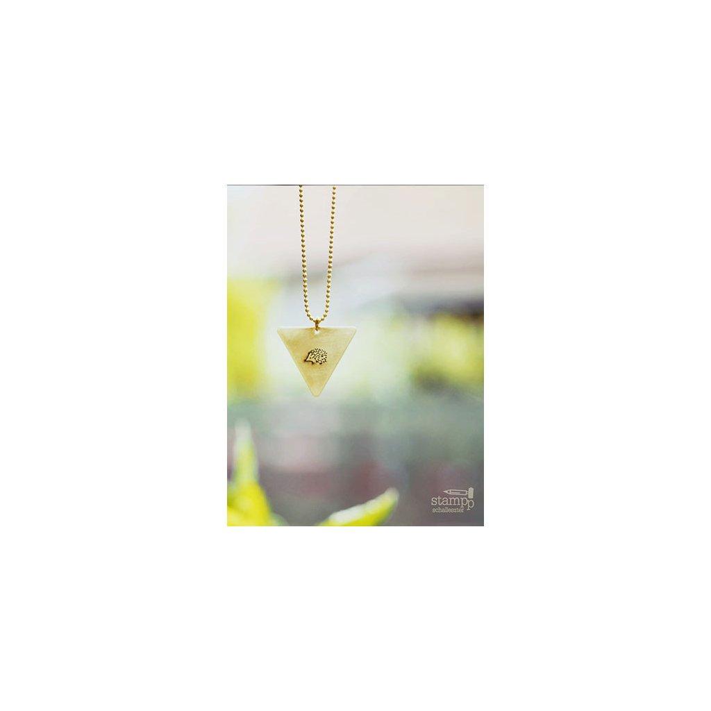 hedgehog triangle necklace