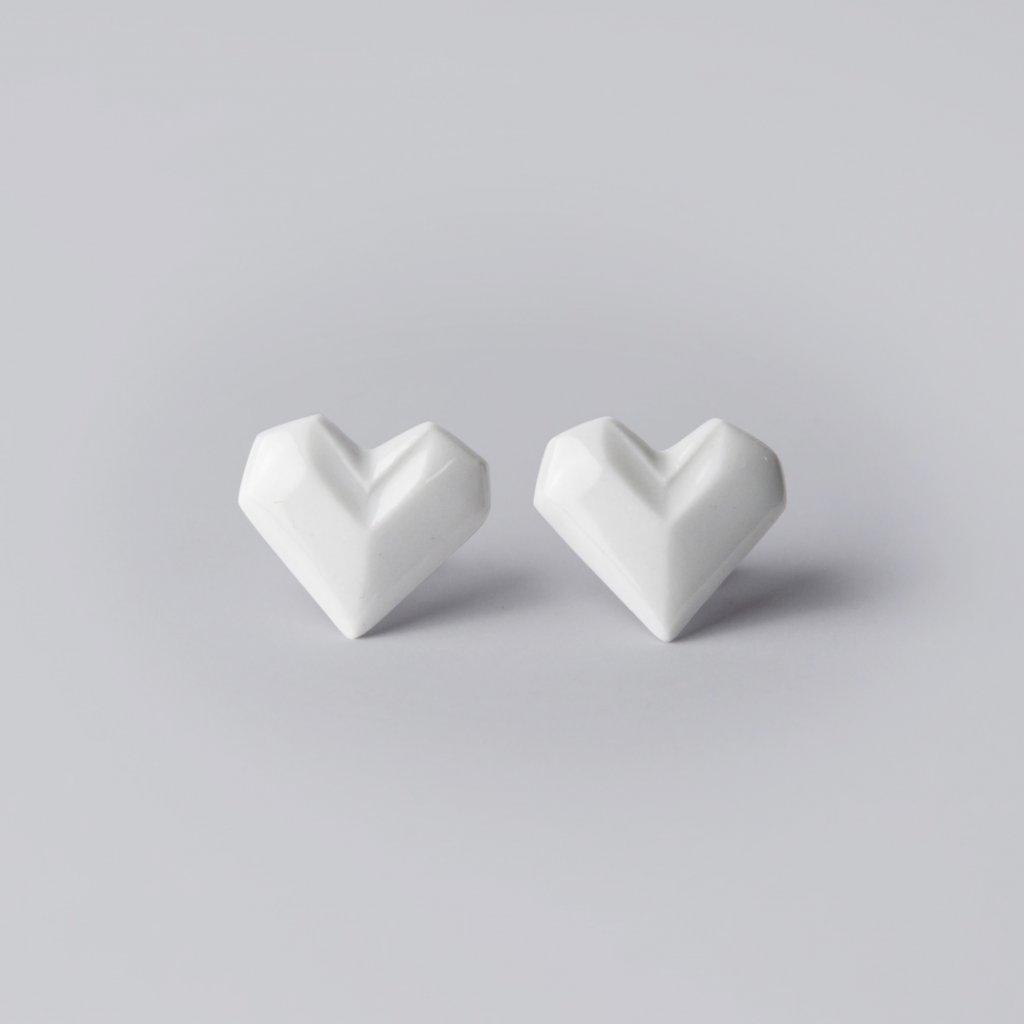 náušnice Stehlík srdce