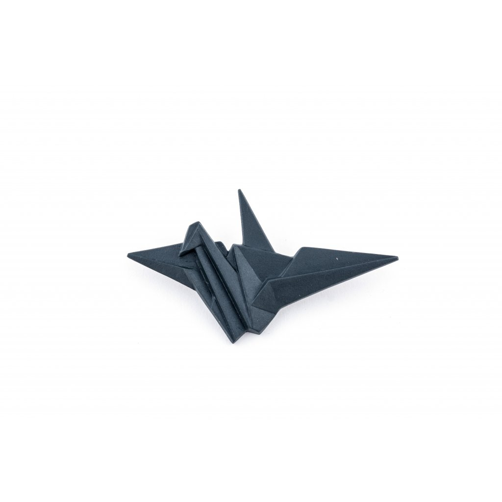 brož Stehlík Jeřáb, černá