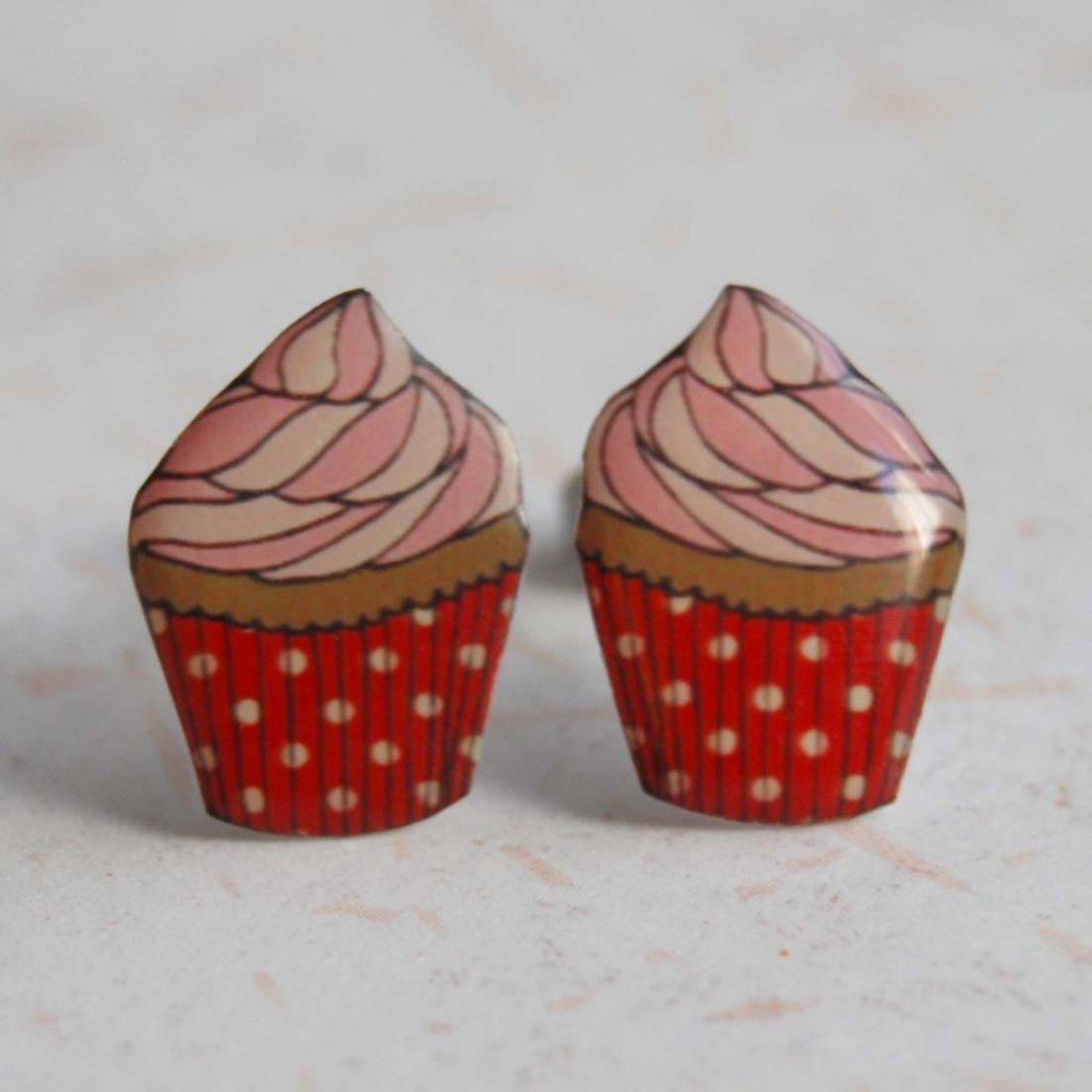 cupcake náušnice