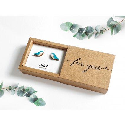 gift box EARRINGS 2000 new