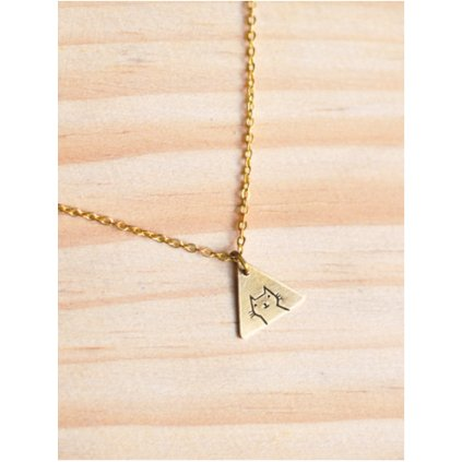 cat triangle necklace