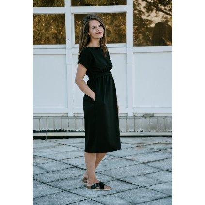 Šaty Minile Oboustranné Černé