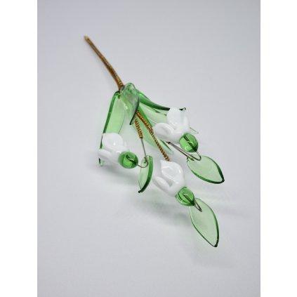 Skleněná květina Markéta Hujerová Sněženky