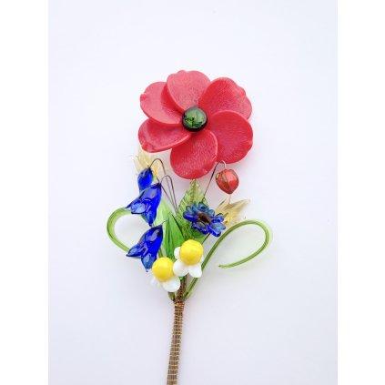 Skleněná květina Markéta Hujerová Luční kvítí