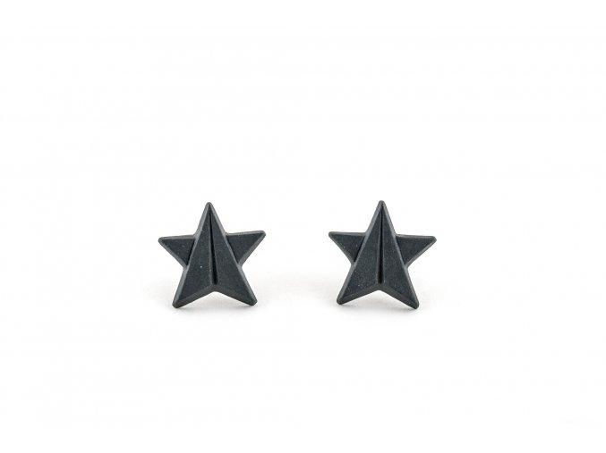 Náušnice Stehlík Hvězdy černé