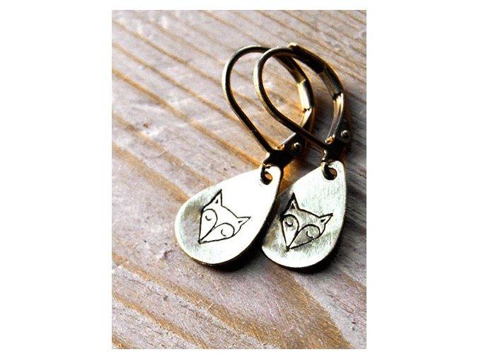 teardrop fox earrings