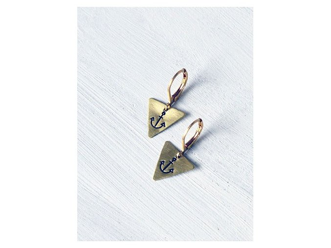 anchor triangle earrings