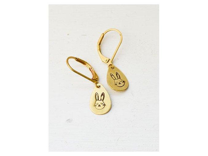 teardrop cat earrings