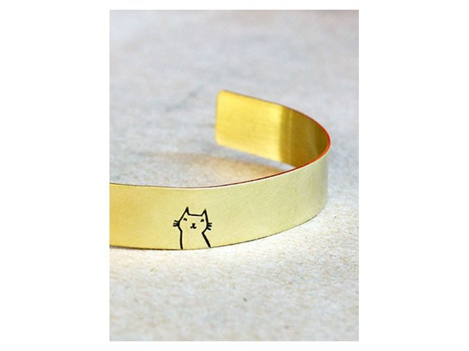 adjustable cat cuff bangle bracelet
