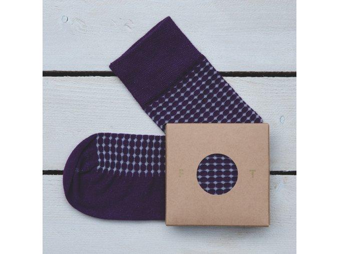 Ponožka Flashtones Fialová