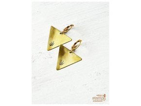 arrow triangle earrings