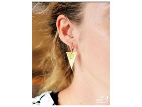 triangle bird earrings