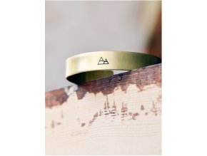 adjustable mountain cuff bangle bracelet