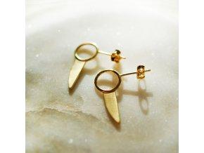 ida earrings gold