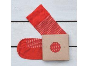 Ponožka Flashtones světle Červená