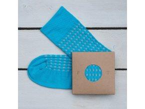 Ponožka Flashtones světle modrá