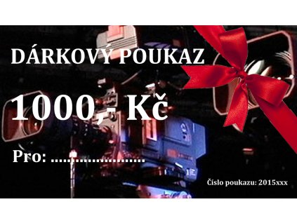DÁRKOVÝ POUKAZ 1000,- Kč