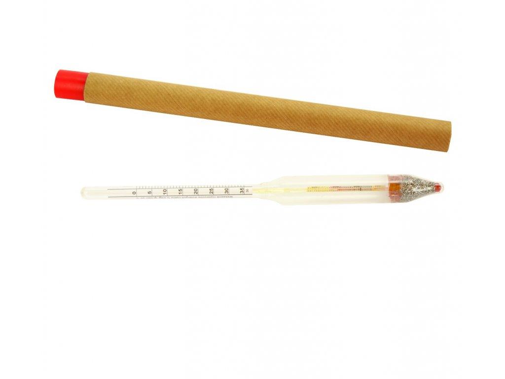 Cukroměr 0-35% s teploměrem 22cm  EURO