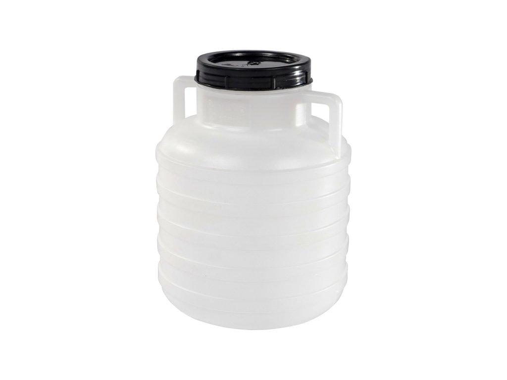 Barel 10L plastový kulatý široké hrdlo  STERK bílá/modrá