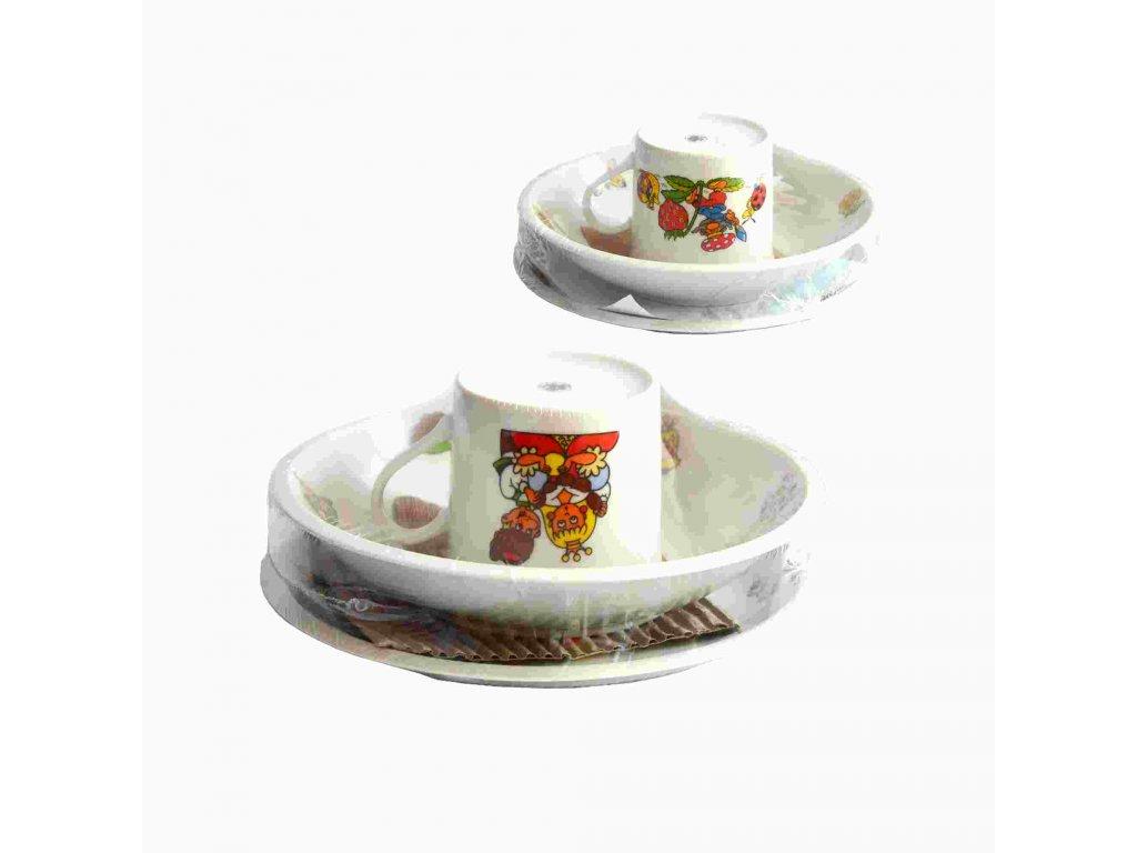 Dětská jídelní sada 3 dílná porcelán  DEKOR CZ mix dekorů
