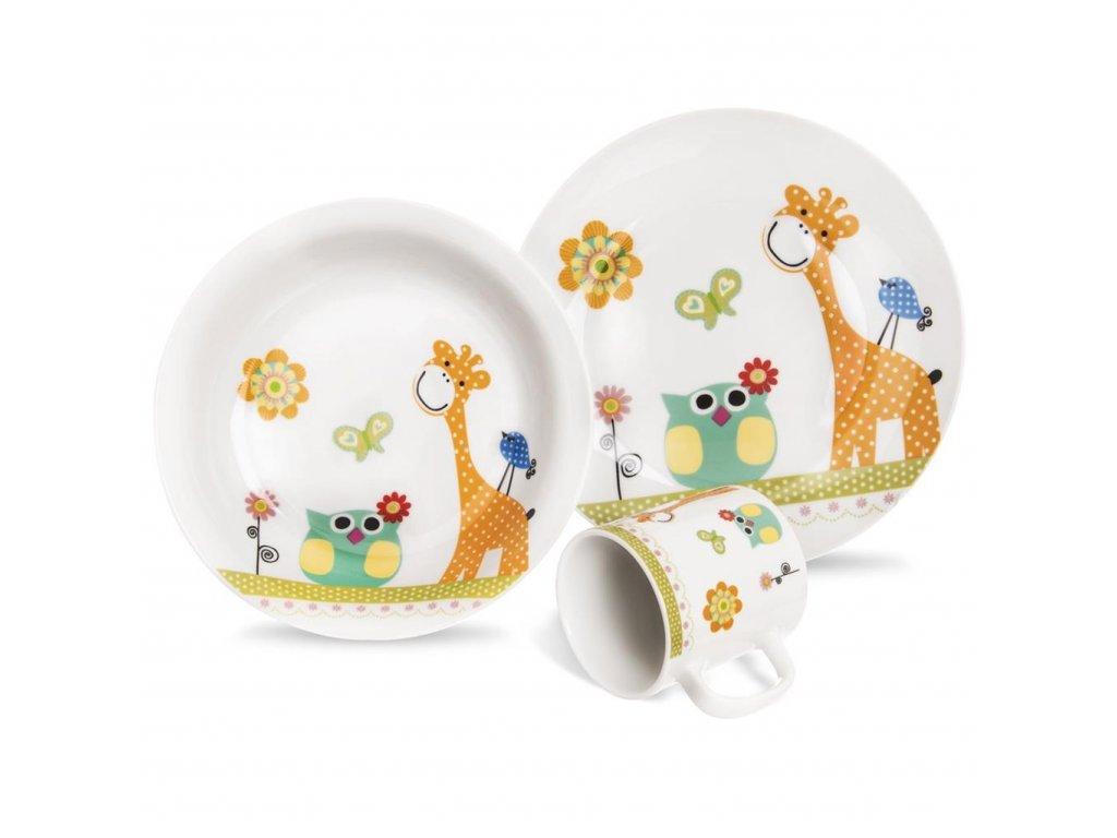 Dětská jídelní sada 3 díly  ŽIRAFA