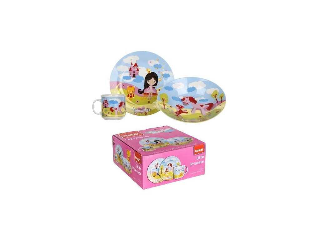 Dětská jídelní sada 3 díly BANQUET Princezny