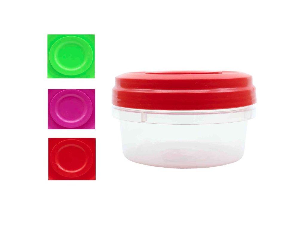 Dóza 0,4L PH kulatá šroubovací  AGORA, mix barev