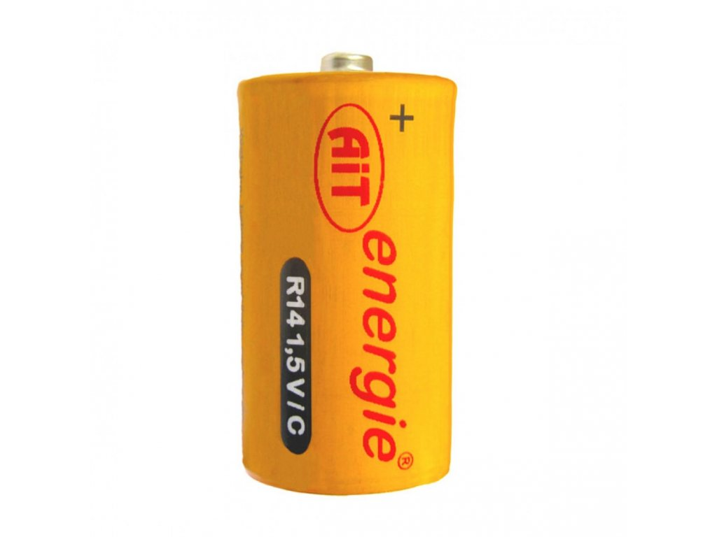 Baterie AiT Silver R14/C malý monočlánek 2 ks