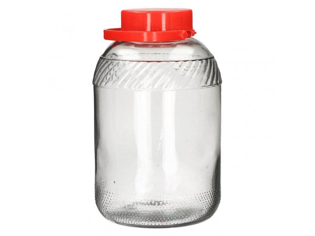 Dóza sklenice 12L s plastovým víkem  TREAT