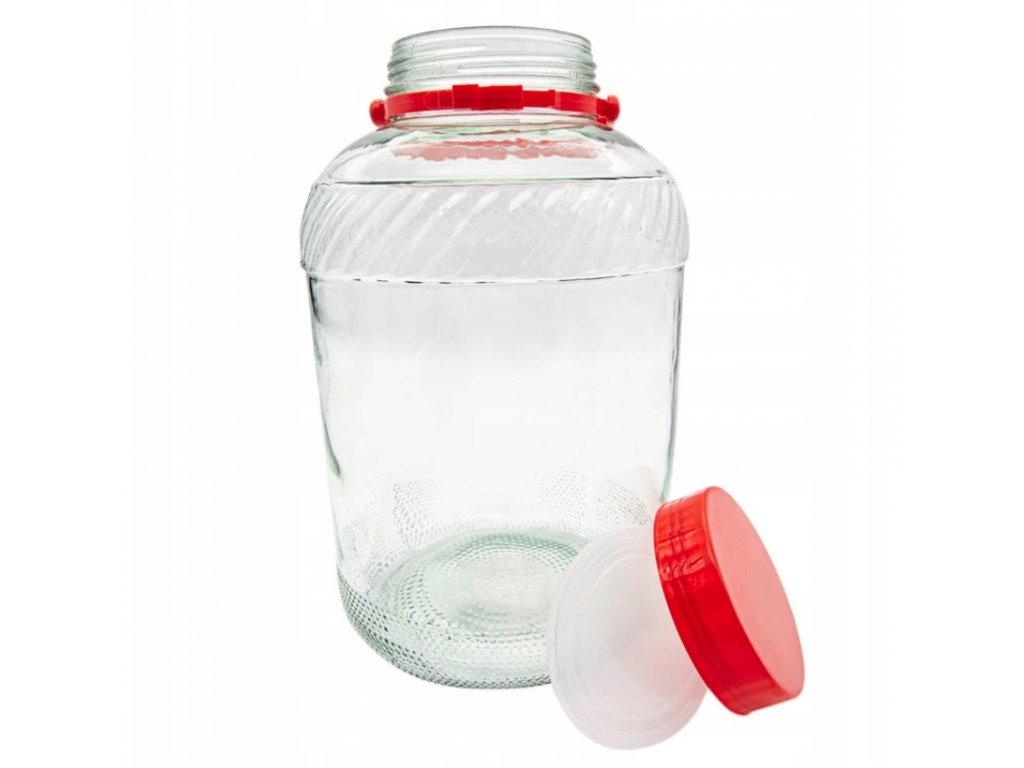 Dóza sklenice 3L s plastovým víkem  TREAT