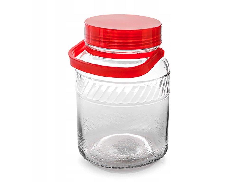 Dóza sklenice 5L s plastovým víkem  TREAT