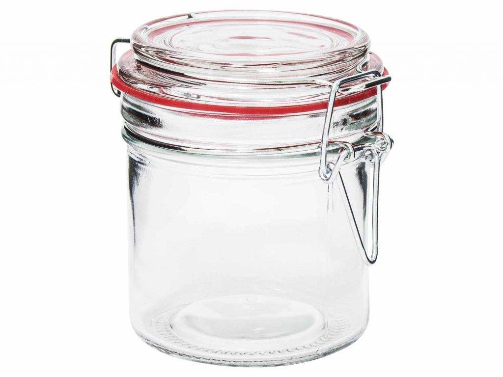 Dóza sklenice patentní 0,25L  COLOR