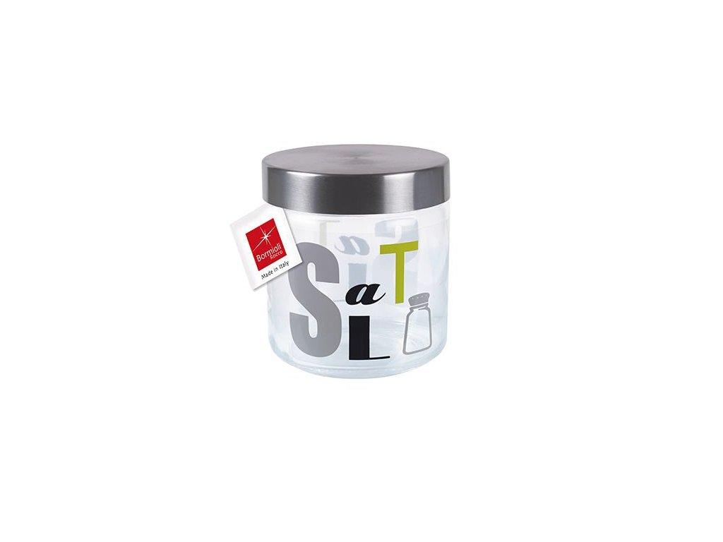 Dóza sklo/nerez ¤10,6x12,6cm  GIARA SALT