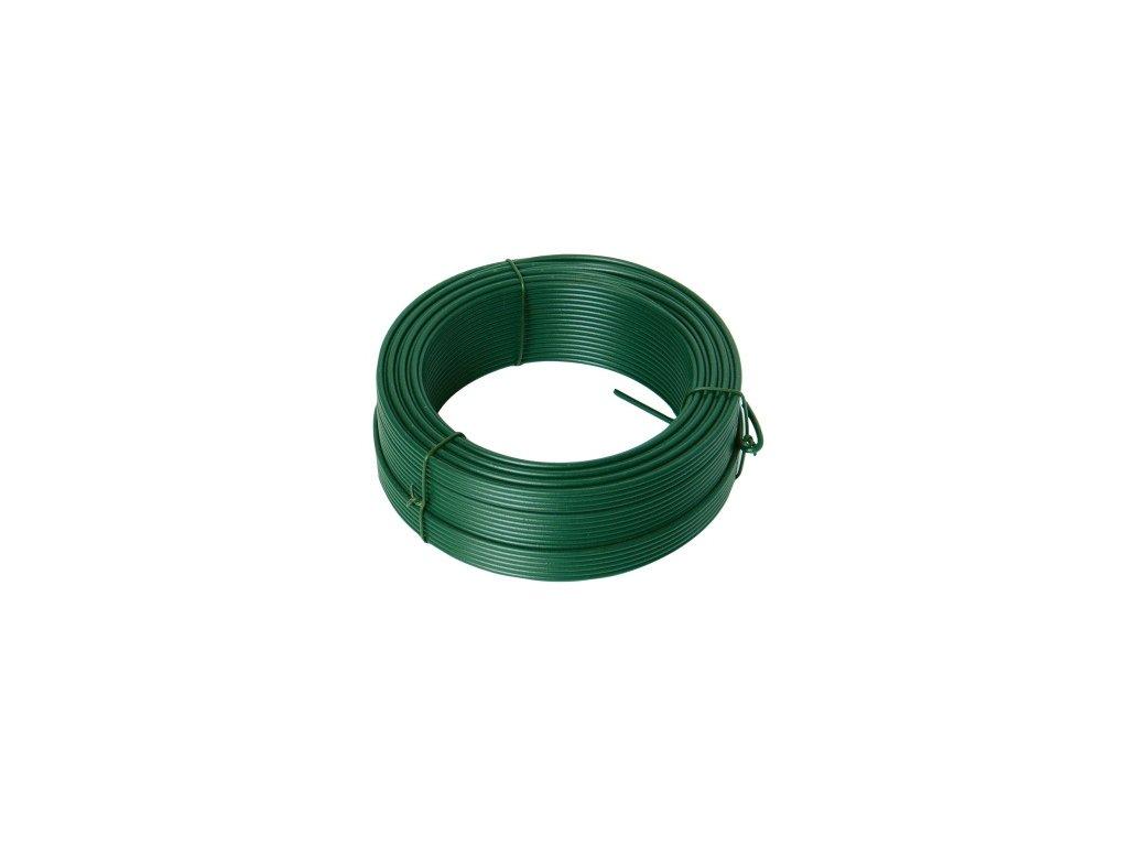 Drát napínací 3,4mm/50m PVC zelený  FESTA