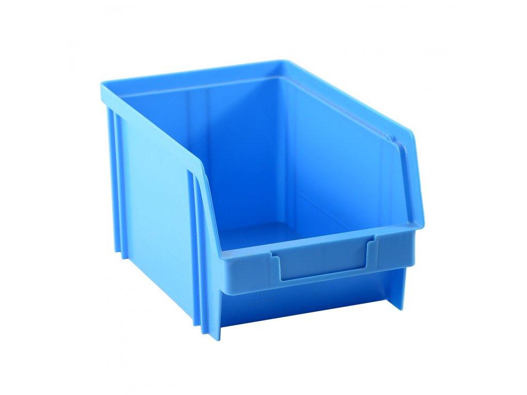 Bedna zkosená 22x14x12cm 10kg modrá  CZ