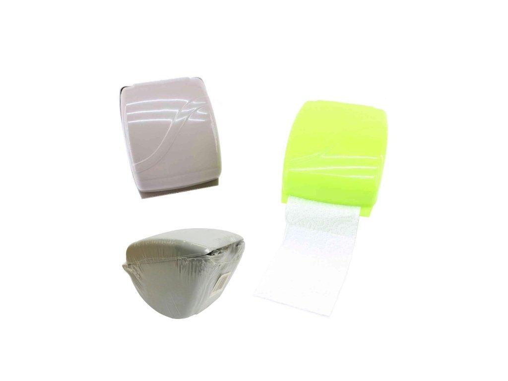 Držák WC papíru plast schránka  BOX, mix barev