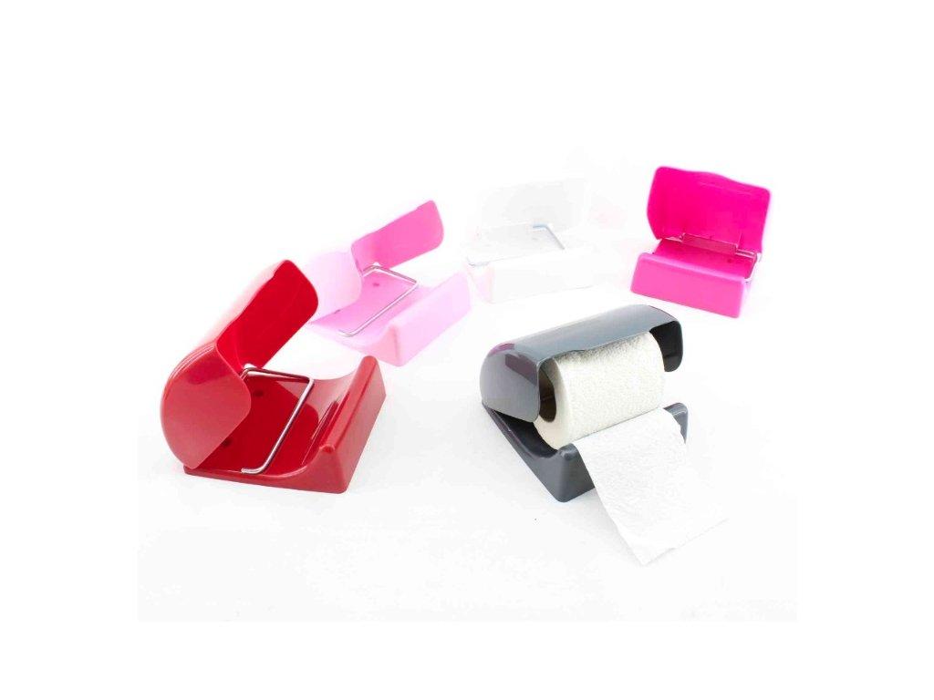 Držák WC papíru plast/kov  UNI, mix barev
