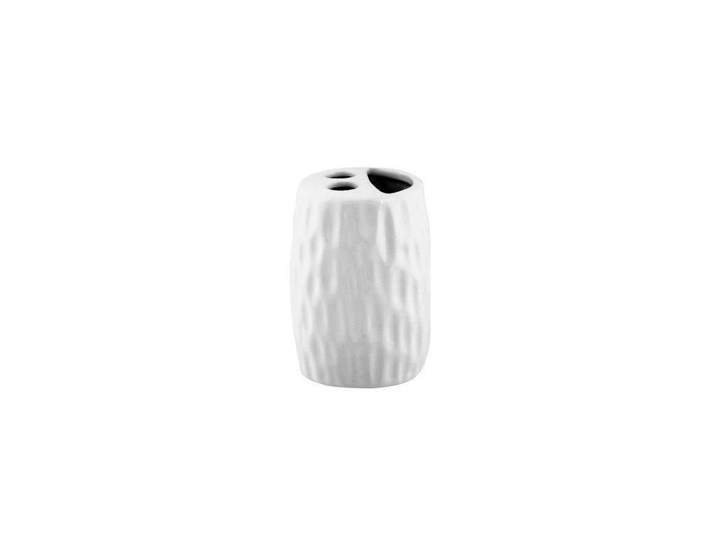 Držák zubních kartáčků keramický DOLOMIT bílý