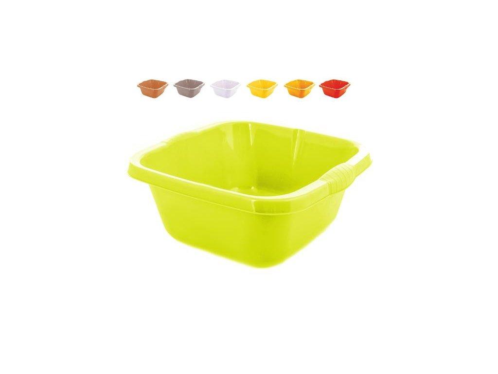 Dřez plastový  4,7L 27,3x26,2x14,5cm  KVADRO, mix barev