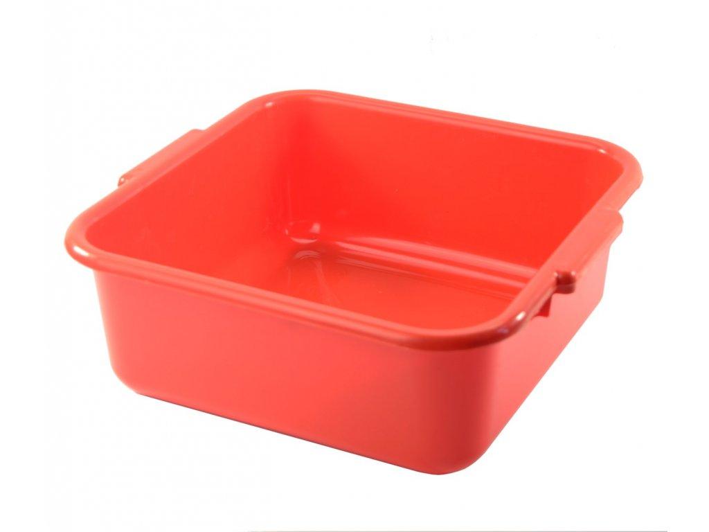 Dřez plastový 36x36cm červený  CZ