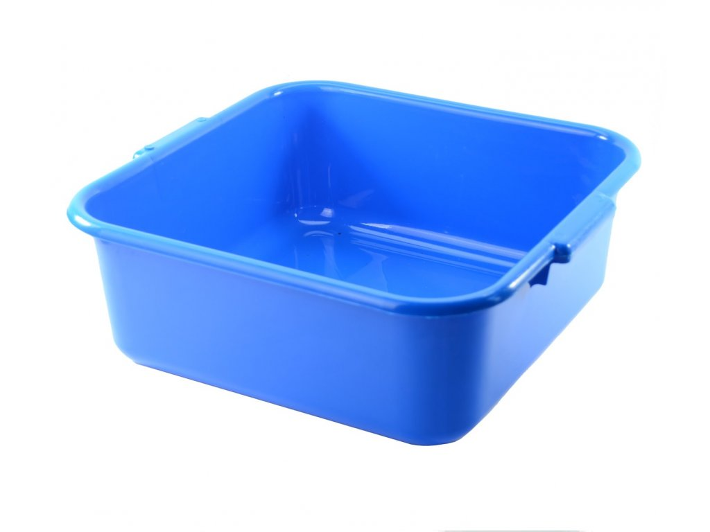 Dřez plastový 36x36cm modrý  CZ